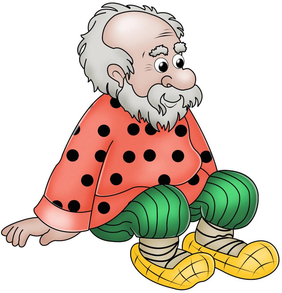 Рисунок старика из русских народных сказок 2